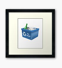 Recycling Bin Logo | Symbol | Ecology Friendly | Environment Framed Print