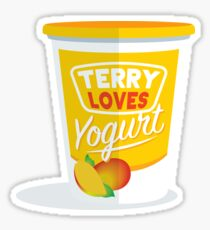 Terry LOVES Yogurt Sticker