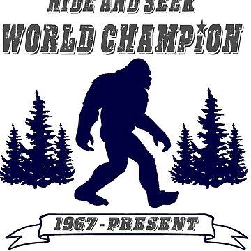 Bigfoot Hide and Seek - World Champion - Sasquatch- Yeti by Tmiklos1971