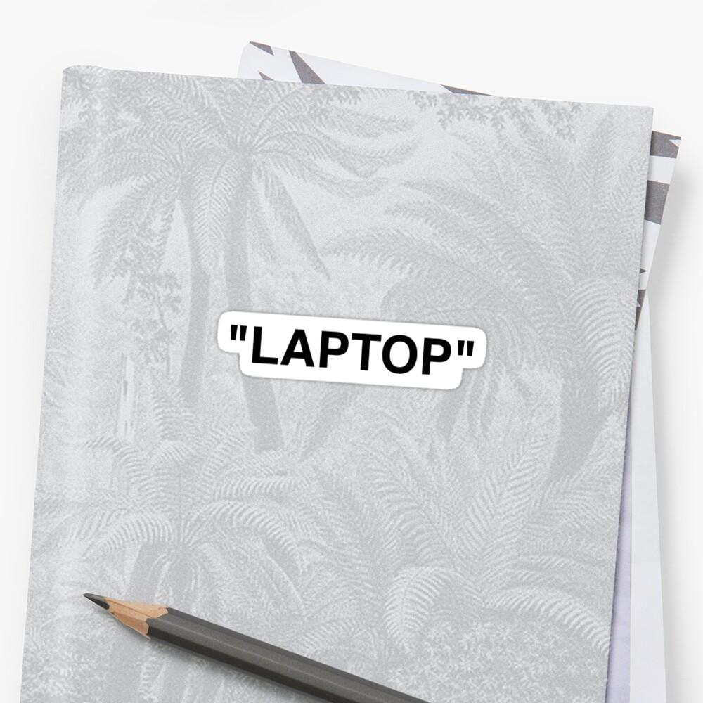 LAPTOP - Off White Sticker by Zach Moore