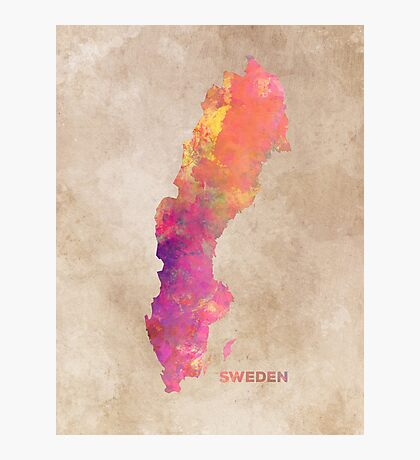 Sweden map #sweden #map Photographic Print