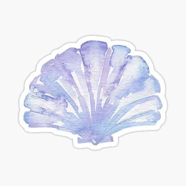 Shell Ya Later - Purple Seashells Sticker