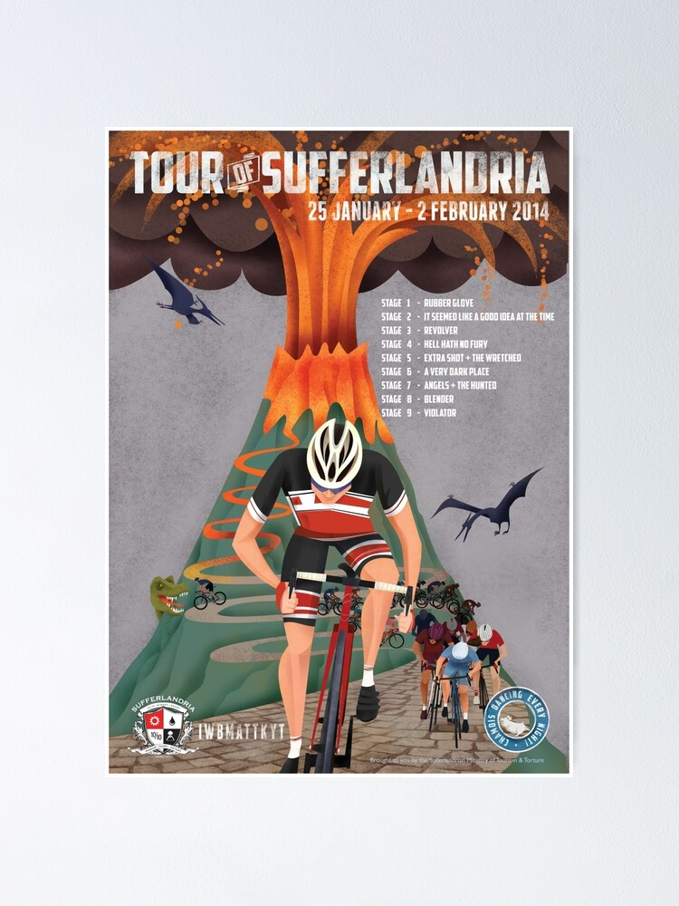 Alternate view of Tour of Sufferlandria 2014 Poster