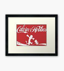 Calvin and Hobbes COKE Framed Print