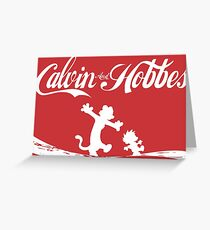 Calvin and Hobbes COKE Greeting Card