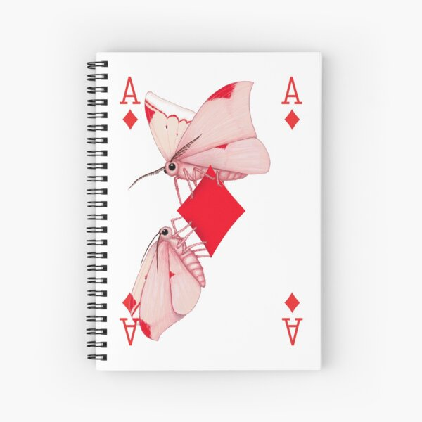 Cryptic Cards Ace of Diamonds Spiral Notebook