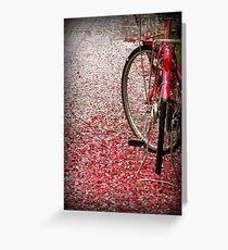 Bicycle in cherry blossoms Greeting Card