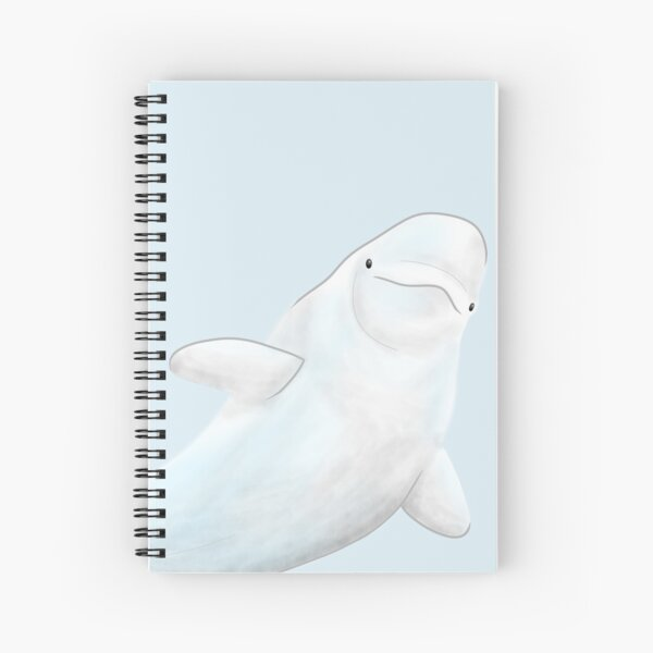 Small Beluga Spiral Notebook