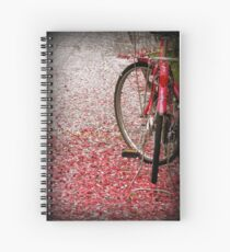 Bicycle in cherry blossoms Spiral Notebook