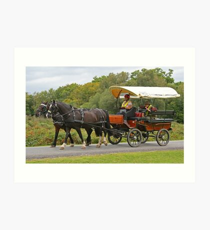 Covered Wagon, Burley Lawn Art Print