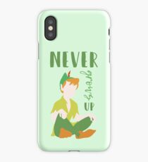 Never Grows Up Peter iPhone Case