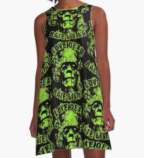 Love Dead Hate Living Green A-Line Dress