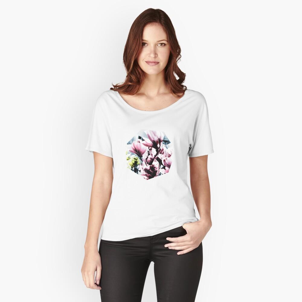 Magnolia 01 Baggyfit T-Shirt für Frauen Vorne