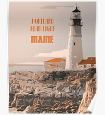 Portland Head light Maine Poster