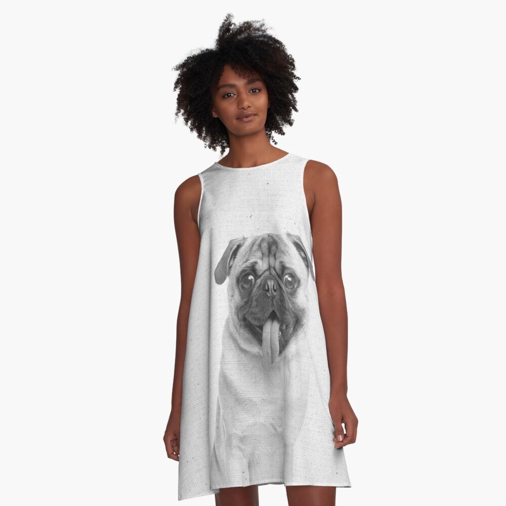 Mops 02 A-Linien Kleid Vorne