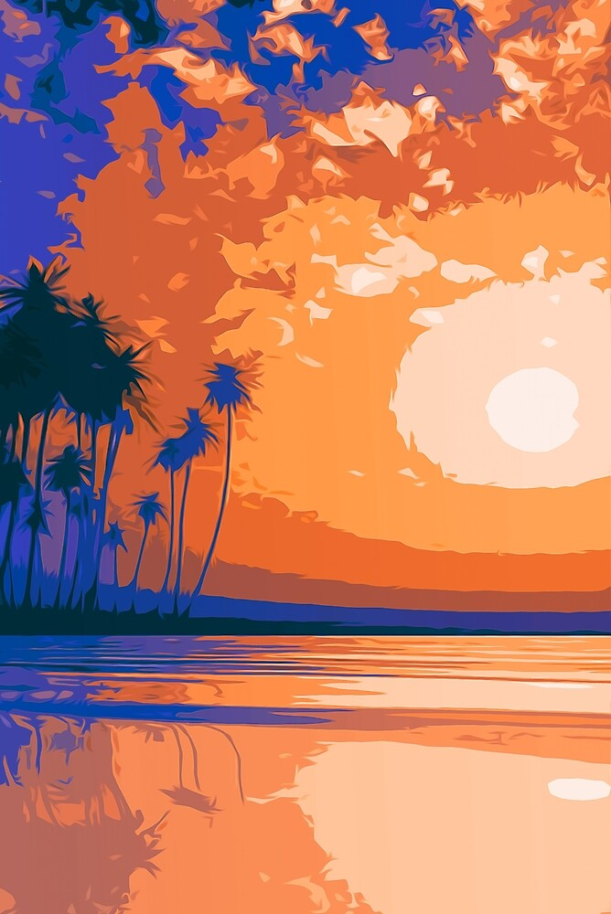 Heavenly Sunset by Andrea Mazzocchetti