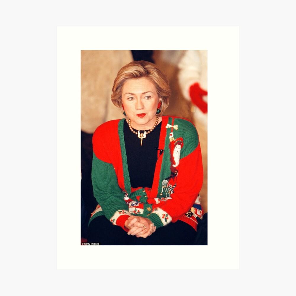Jersey de Navidad de Hillary Clinton Lámina artística