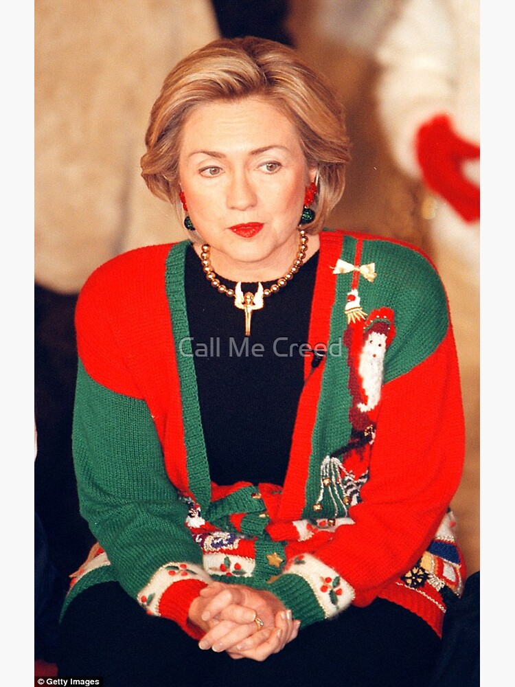 Hillary Clinton Christmas.Hillary Clinton Christmas Sweater Sticker