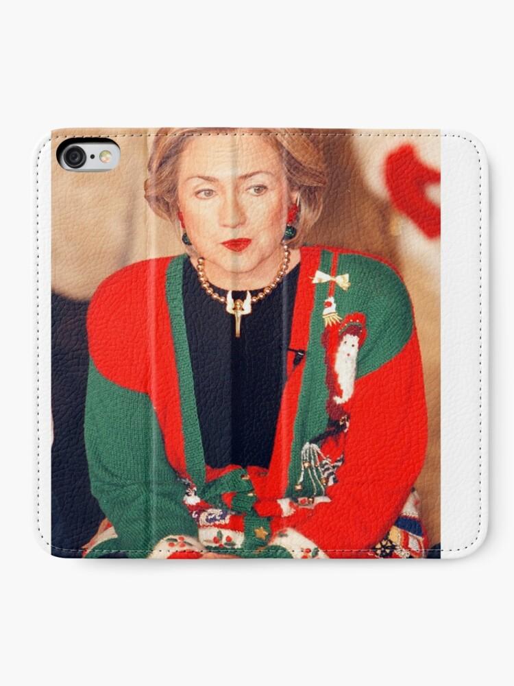 Vista alternativa de Fundas tarjetero para iPhone Jersey de Navidad de Hillary Clinton