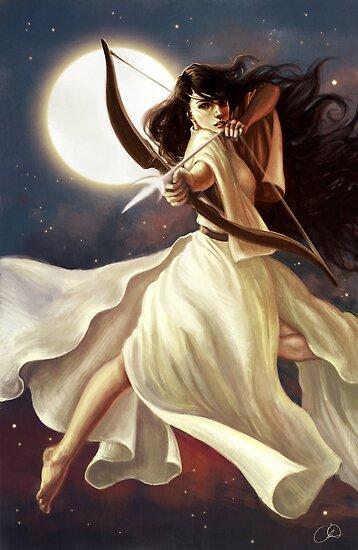 Göttin des Mondes von Christy Tortland