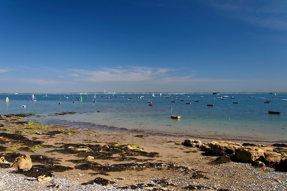 Seaview Beach and The Solent - 01 by Rod Johnson