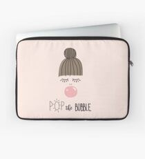 Girl pink bubble gum  Laptop Sleeve