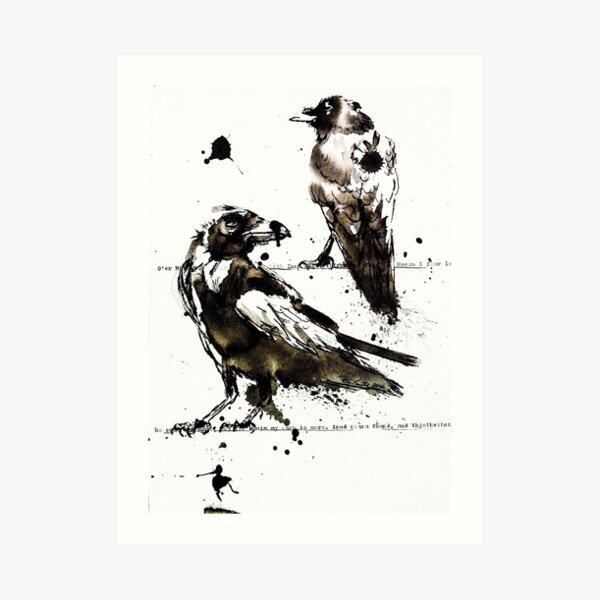 Hugin & Munin Art Print