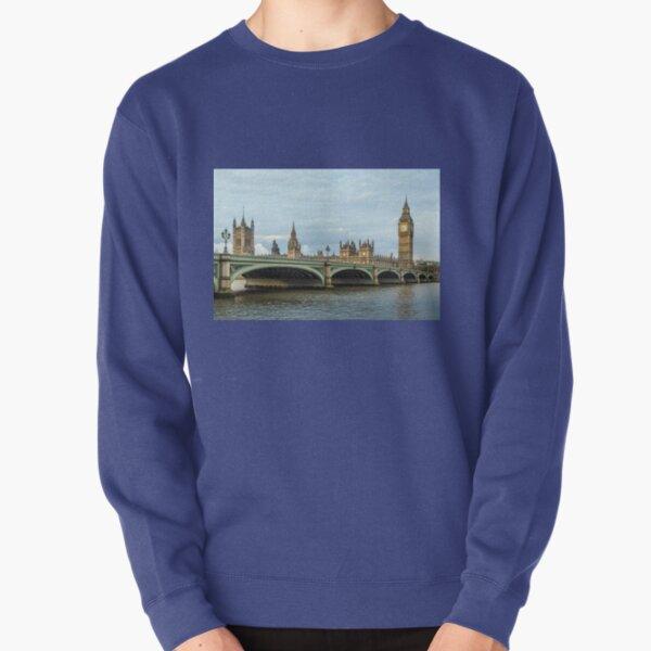Westminster Bridge and Big Ben, London Pullover Sweatshirt