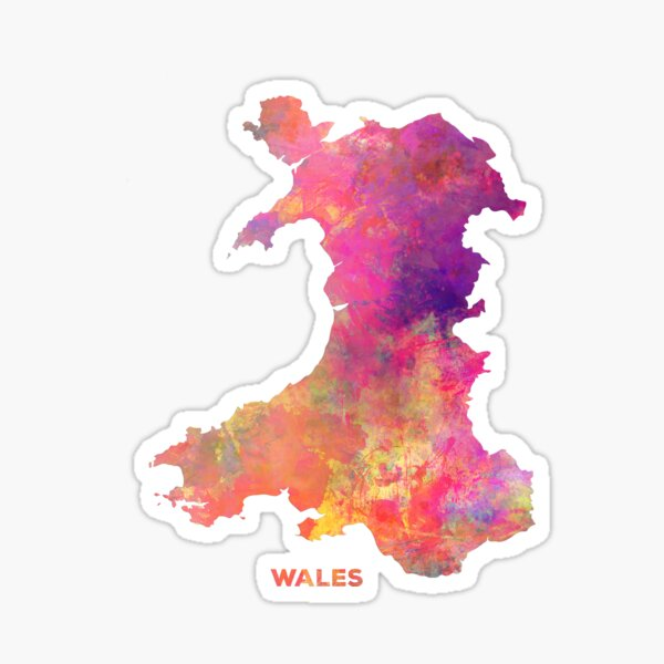 Wales map #wales #map Sticker