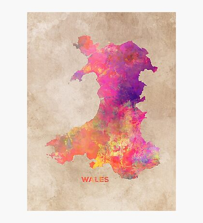 Wales map #wales #map Photographic Print