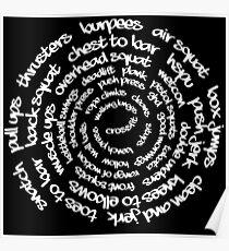 Crossfit - Spiralwörter Poster