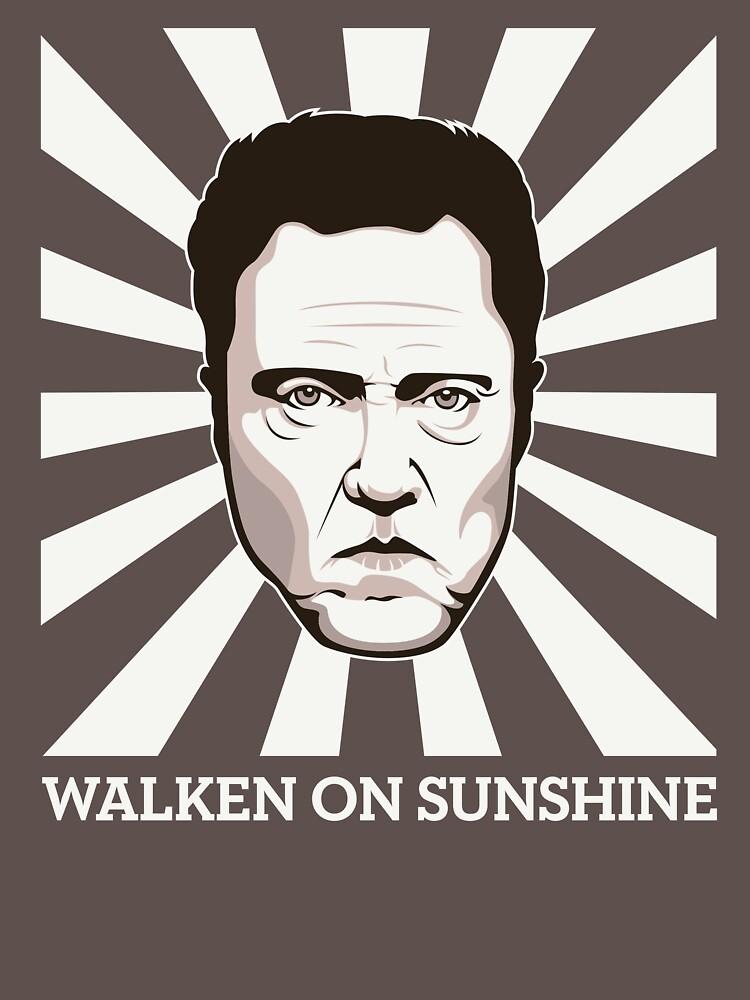 Walken on Sunshine - Christopher Walken (Dark Shirt Version) by FacesOfAwesome