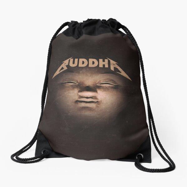 Buddha - Cool Funny Heavy Metal Yoga Addict Design Drawstring Bag