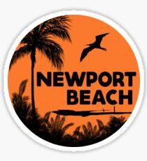 NEWPORT BEACH California Surfer Surfing Surfboard Ocean Beach Vacation 3 Sticker