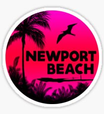 NEWPORT BEACH California Surfer Surfing Surfboard Ocean Beach Vacation 4 Sticker