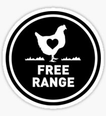 FREE RANGE CHICKEN FARM LOVE  Sticker