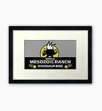 Moon 14 Mesozoic Ranch Dinosaur BBQ Framed Print