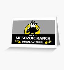 Moon 14 Mesozoic Ranch Dinosaur BBQ Greeting Card