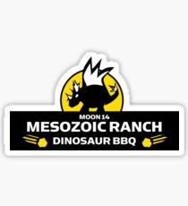 Moon 14 Mesozoic Ranch Dinosaur BBQ Sticker