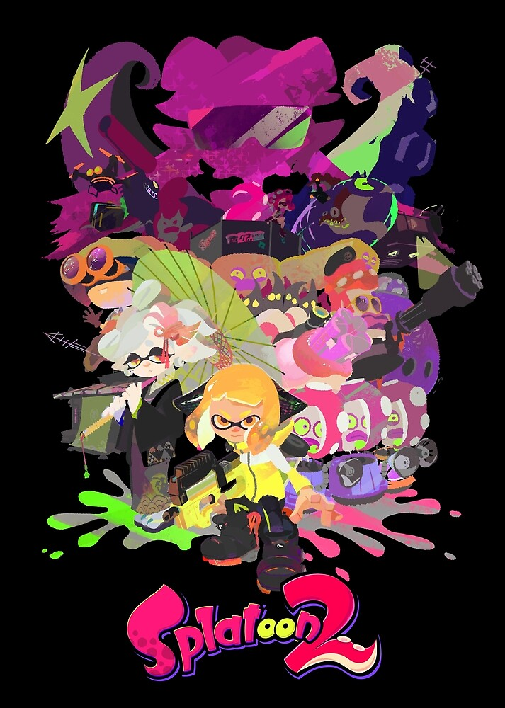 Splatoon 2 Poster by Assassinhedgie