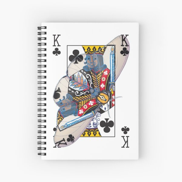 King of Clubs (for dedication, see artist's notes) Spiral Notebook