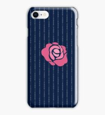 Pink Rose Fuck You Pinstripe iPhone Case/Skin