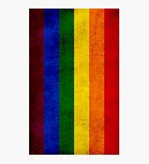 Gay pride flag Photographic Print