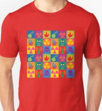Hazard Danger Icons Checkerboard T-Shirt