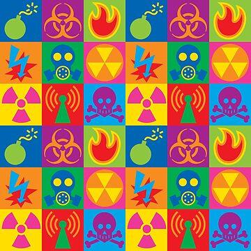 Hazard Danger Icons Checkerboard by Lisann