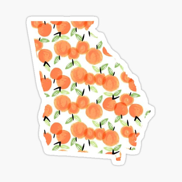 Georgia Peaches Sticker