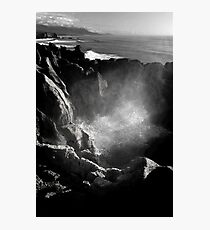 Blowhole at Punakaiki Pancake Rocks Photographic Print
