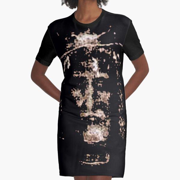 Shroud of Turin Jesus Christ Yeshua Graphic T-Shirt Dress