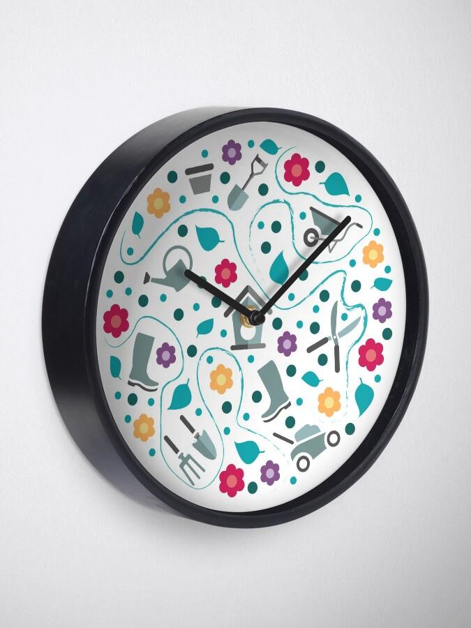 Alternate view of Gardening tools Clock
