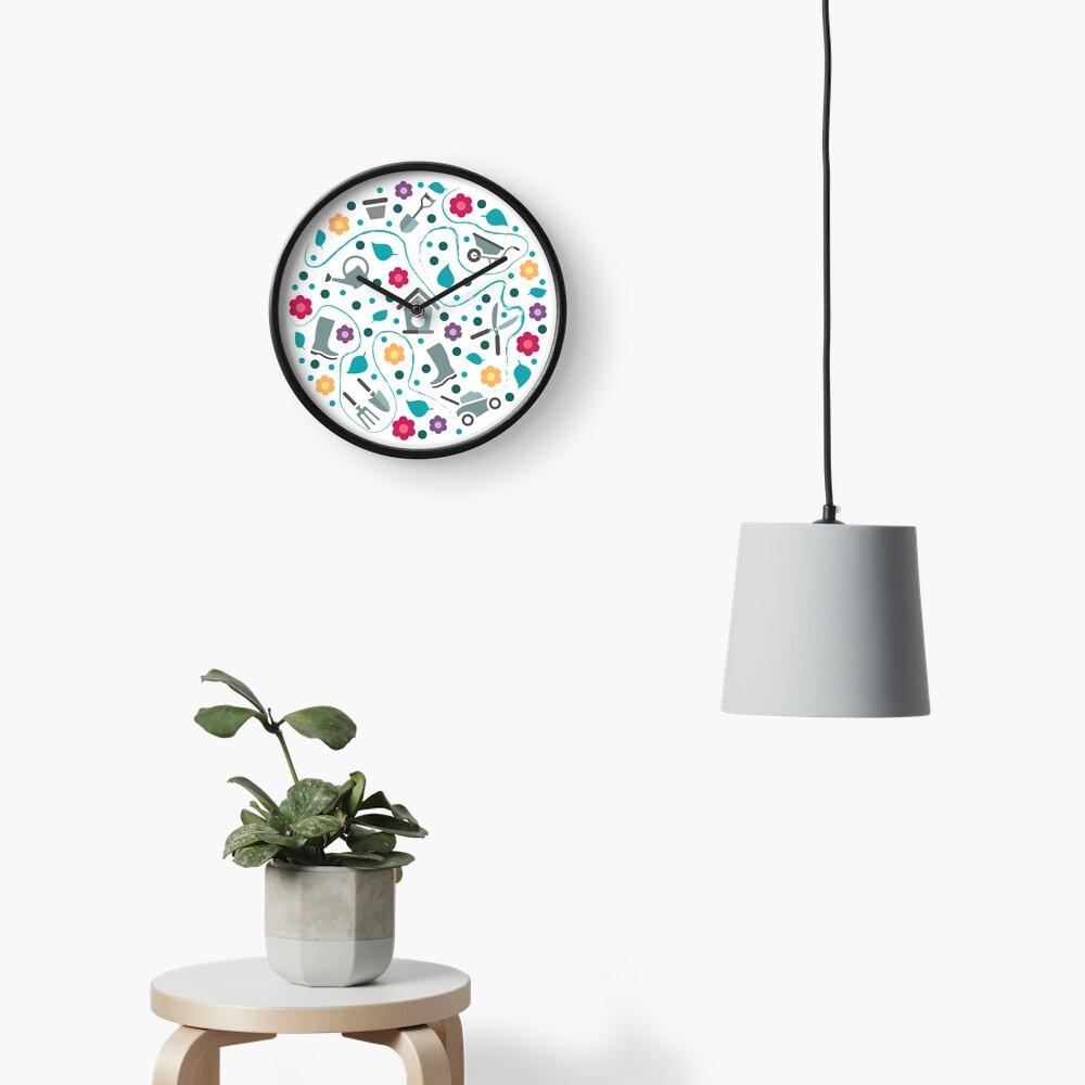 Gardening tools Clock